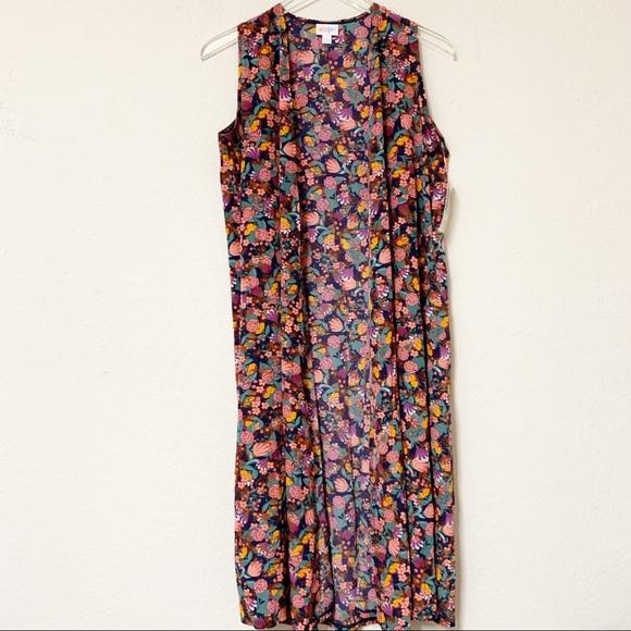 LuLaRoe Jackets & Blazers - LuLaRoe Joy Floral Sleeveless Vest | Size Small
